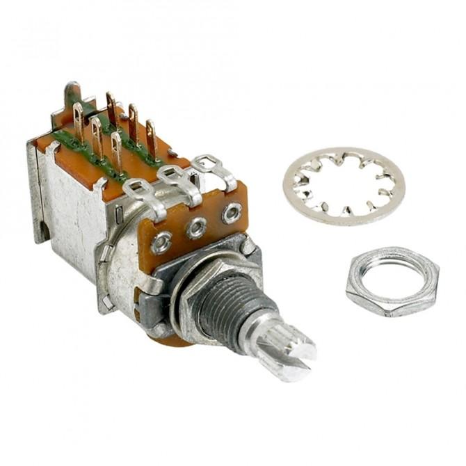 Alpha 250k Volume Potentiometer Audio Taper Push/Pull 6mm Split Shaft