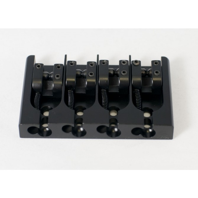 Hipshot AStyle 4String .787 Bass Bridge Aluminum Black 20mm Spacing