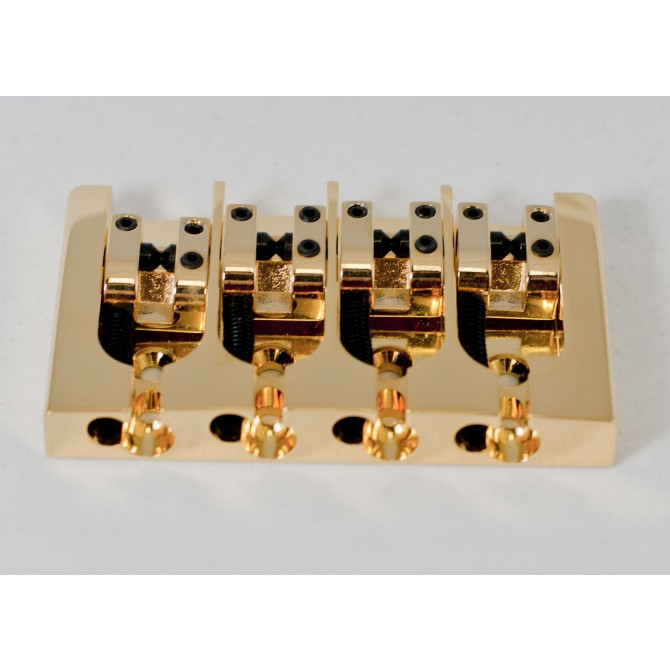 Hipshot AStyle 4String .787 Bass Bridge Brass Gold 20mm Spacing