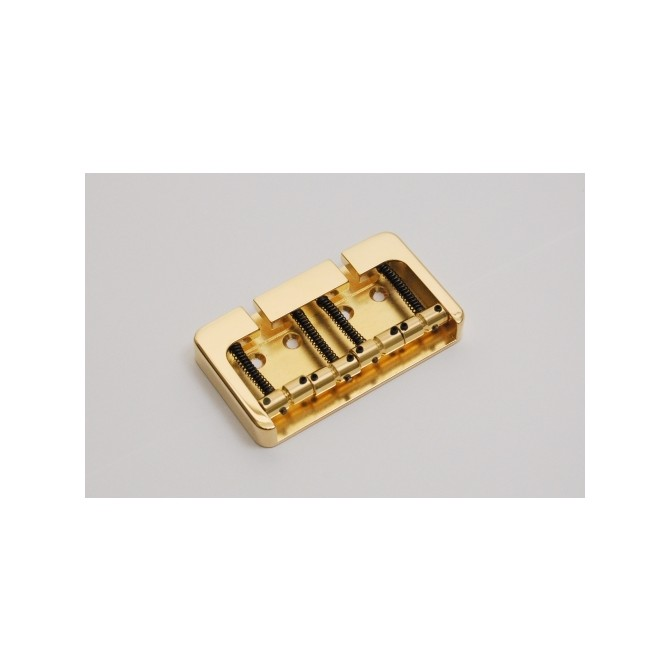 Hipshot BStyle 4String .669 Bass Bridge Brass Gold 17mm Spacing