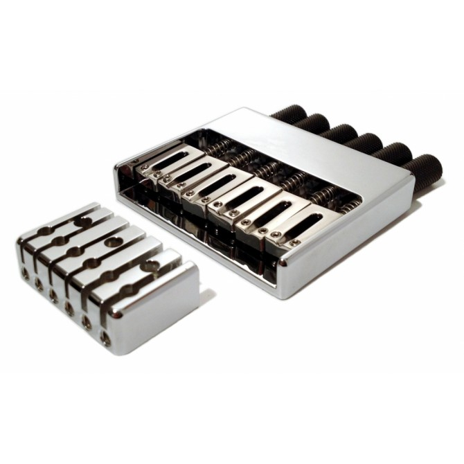 Hipshot Headless System 6String .656 Bass Bridge Chrome 16.5mmSpacing