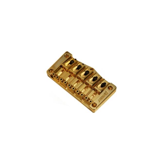 Hipshot Transtone 5String .708 Bass Bridge Gold 18mm Spacing