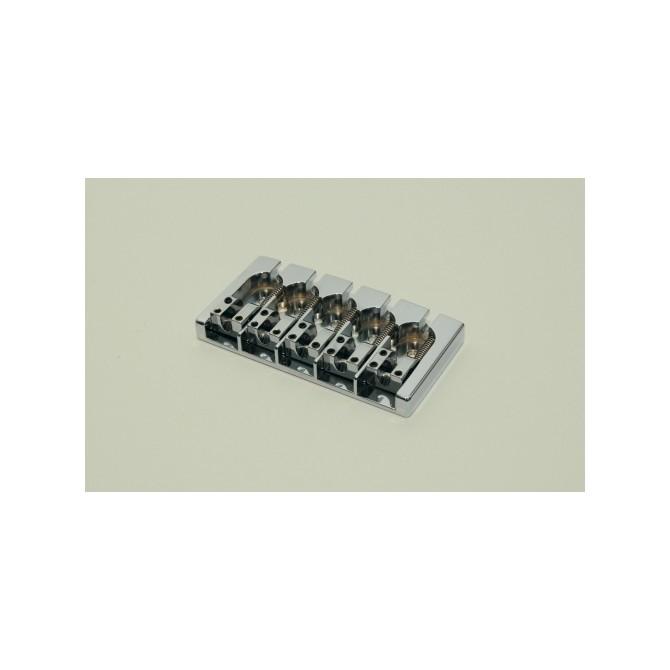 Hipshot AStyle 5String FenderMount3 .708 Bass Bridge Aluminum Satin 18mm Spacing