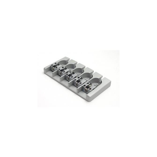 Hipshot AStyle 5String .656 Bass Bridge Aluminum Satin 16.5mm Spacing