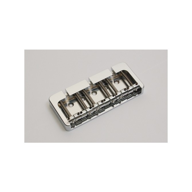 Hipshot BStyle 6String .750 Bass Bridge Aluminum Chrome 19mm Spacing
