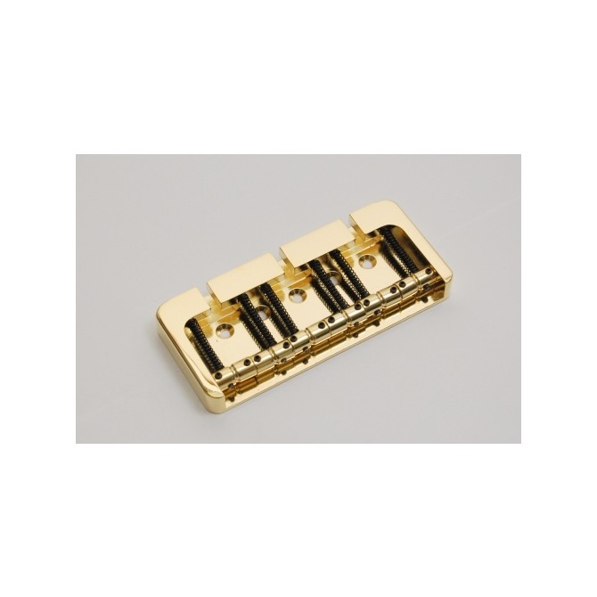 Hipshot BStyle 6String .750 Bass Bridge Brass Gold 19mm Spacing