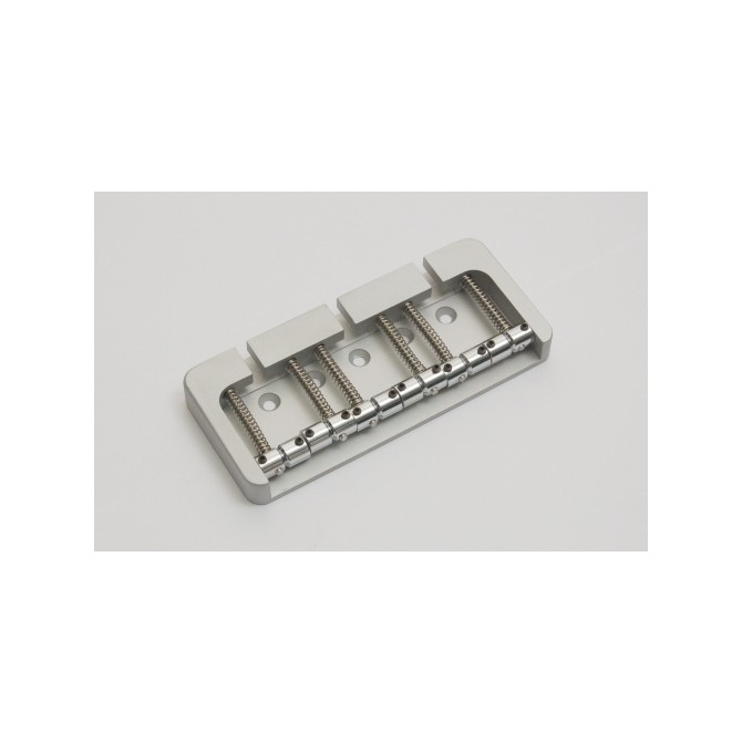 Hipshot BStyle 6String .708 Bass Bridge Aluminum Satin 18mm Spacing