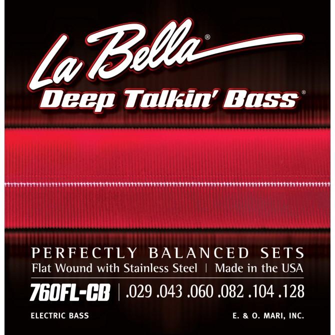 Labella 760FL-CB-XL Deep Talkin' Bass Flatwound 6 String Light (29 - 43 - 60 - 82 - 104 - 128) Extra Long Scale