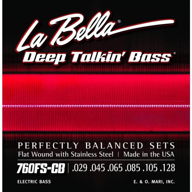 Labella 760FS-CB Deep Talkin' Bass Flatwound 6 String Standard (29 - 45 - 65 - 85 - 105 - 128) Long Scale