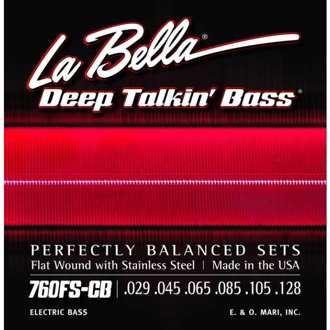 Labella 760FS-CB-XL Deep Talkin' Bass Flatwound 6 String Standard (29 - 45 - 65 - 85 - 105 - 128) Extra Long Scale