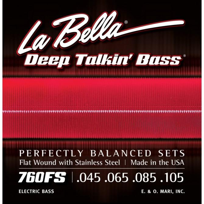 Labella 760FS-S Deep Talkin' Bass Flatwound 4 String Standard (45 - 65 - 85 - 105) Short Scale