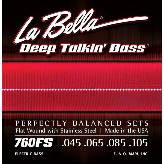 Labella 760FS-M Deep Talkin' Bass Flatwound 4 String Standard (45 - 65 - 85 - 105) Medium Scale
