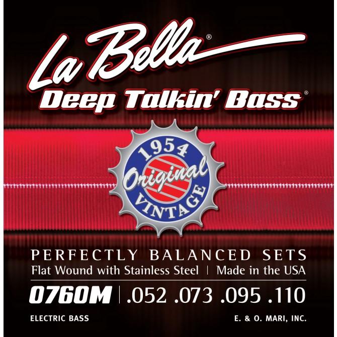 Labella 760M-S Deep Talkin' Bass Flatwound 1954 4 String Original (52 - 73 - 95 - 110) Short Scale