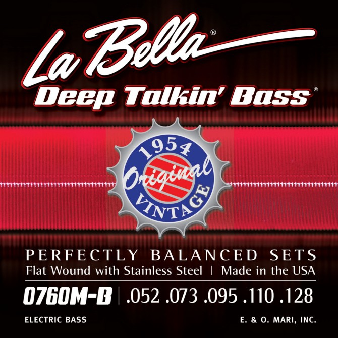 Labella 760M-B-XL Deep Talkin' Bass Flatwound 1954 5 String Original (52 - 73 - 95 - 110 - 128) Extra Long Scale