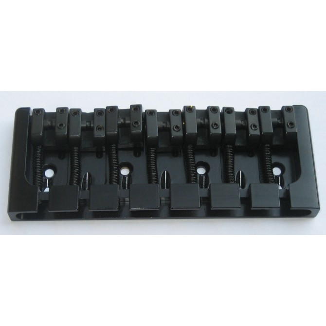 Hipshot AStyle 7String .669 Bass Bridge Aluminum Black 17mm Spacing