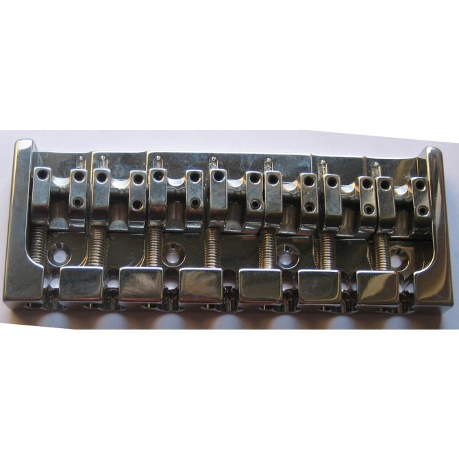 Hipshot AStyle 7String .669 Bass Bridge Aluminum Chrome 17mm Spacing