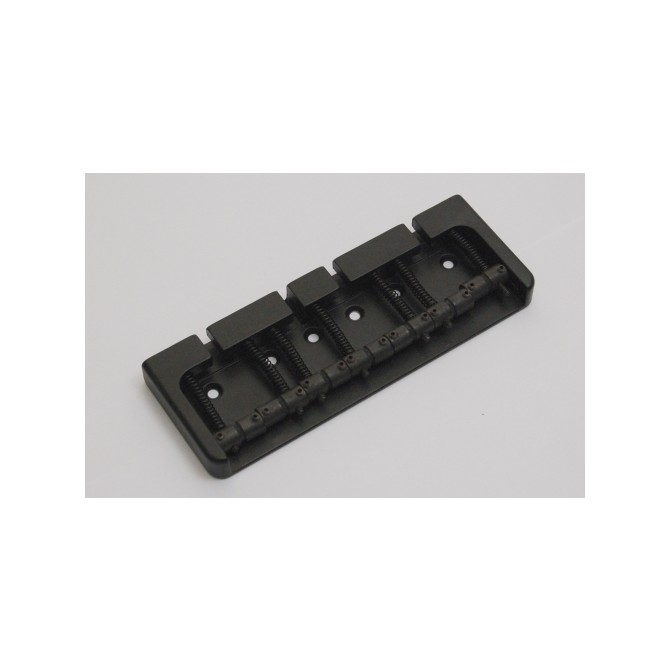 Hipshot BStyle 7String .669 Bass Bridge Aluminum Black 17mm Spacing