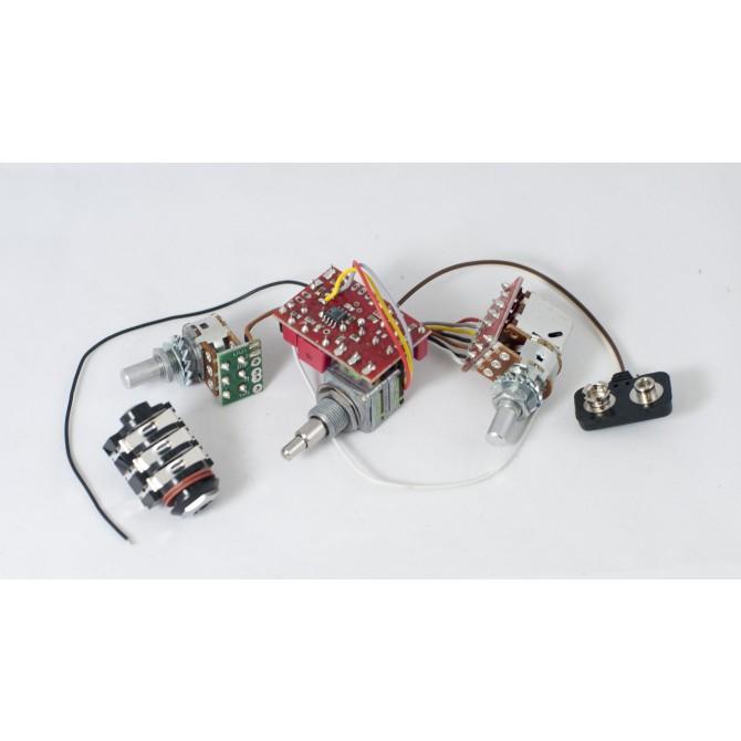 Glockenklang 2-Pickup 3-Knob 2-Band Vol P/P A/P - Bl - Treb/Bass Stack