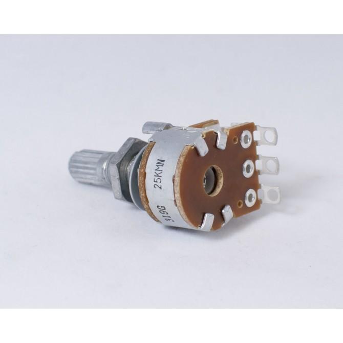 Alpha 25k Blend Potentiometer Audio Taper 6mm Split Shaft