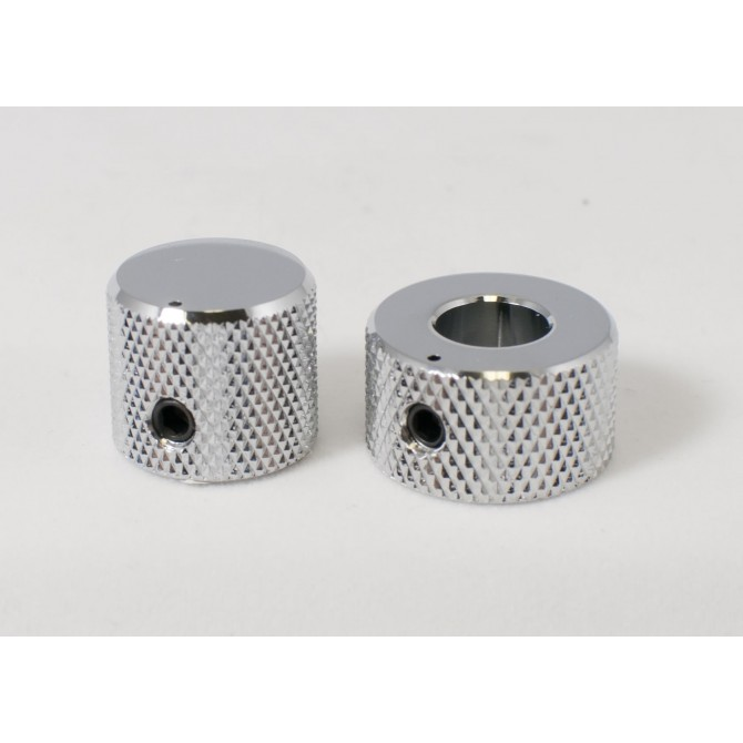 Concentric Stacked Metal Beveled Knob - Chrome EMG