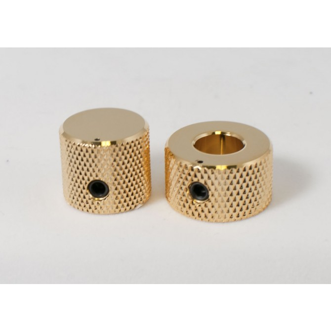 Concentric Stacked Metal Beveled Knob -Gold EMG