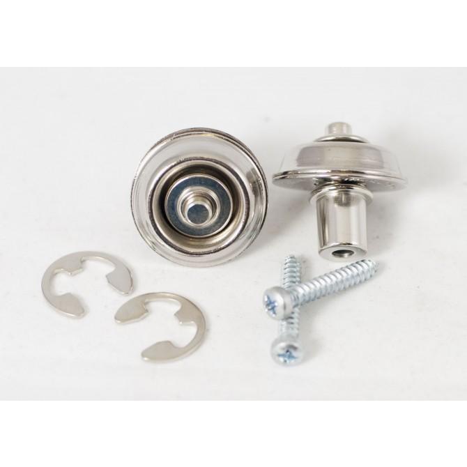 Dunlop - Flush Mount Straplok Set - Nickel
