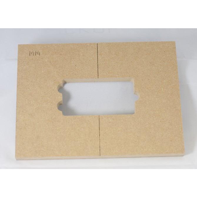 """Mike Plyler 1/2"""" Thick MDF MusicMan Size Template"""