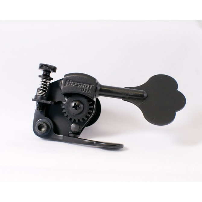 "Hipshot Bass Xtender HE6C 1/2"" Black Bass Side"