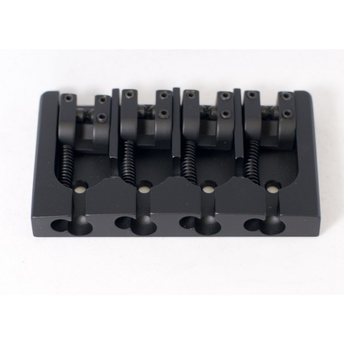 Hipshot AStyle 4String FenderMount2 .750 Bass Bridge Aluminum Black 19mm Spacing
