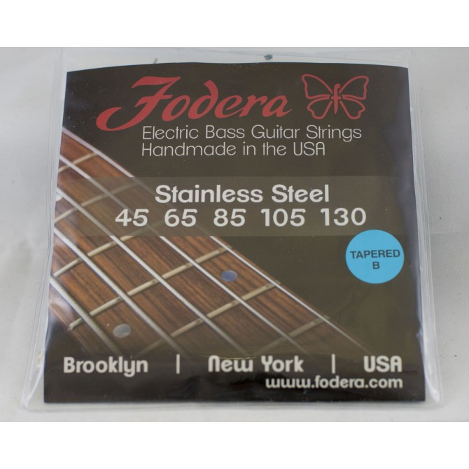 Fodera 45130S-TB Stainless Steel 5 String Medium Tapered B (45 - 65 - 85 - 105 - 130) Long Scale