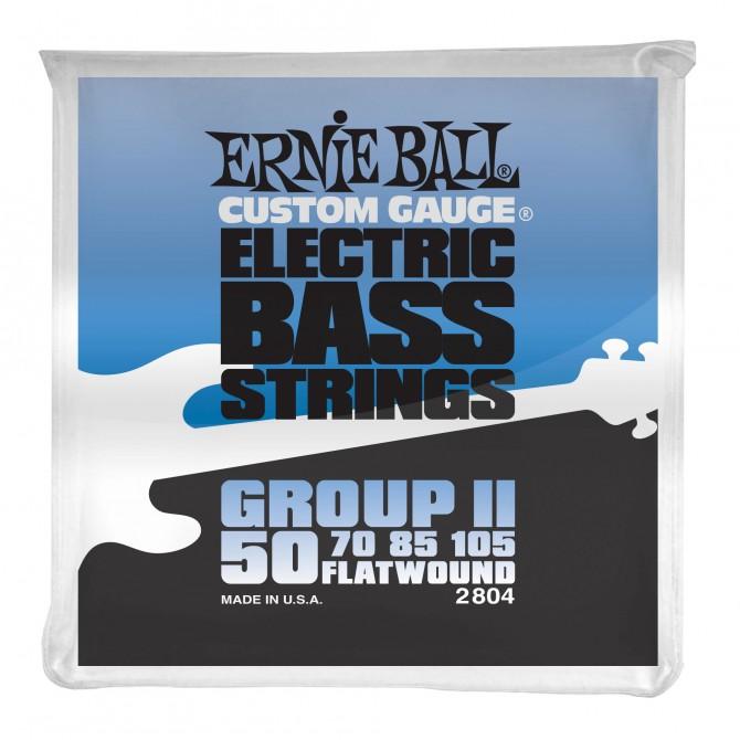 Ernie Ball Flatwound Group II Electric Bass Strings - 50-105 Gauge
