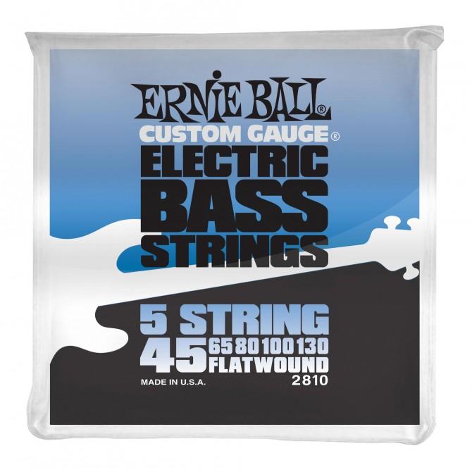 Ernie Ball Flatwound 5-String Electric Bass Strings - 45-130 Gauge