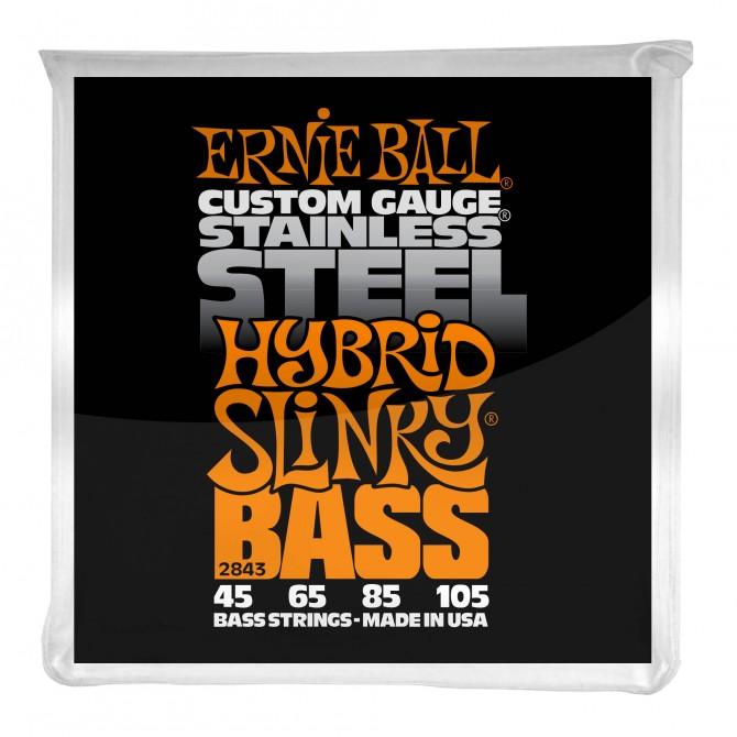 Ernie Ball Hybrid Slinky Stainless Steel Electric Bass Strings - 45-105 Gauge