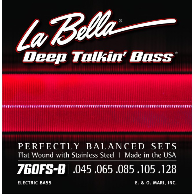 Labella 760FS-B-XL Deep Talkin' Bass Flatwound 5 String Standard (45 - 65 - 85 - 105 - 128) Extra Long Scale