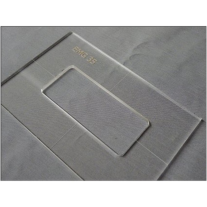 """Nordstrand 3/16"""" Thick Acrylic M3(EMG 35) Size Template"""