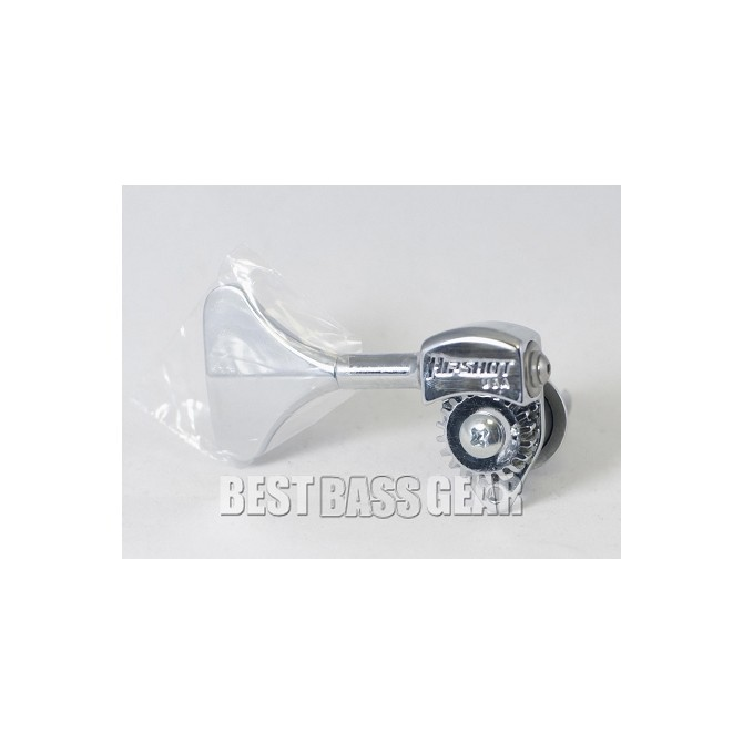 Hipshot Ultralite Tuner HB6Y 3/8 Shiny Nickel Treble Side SHORT KEY