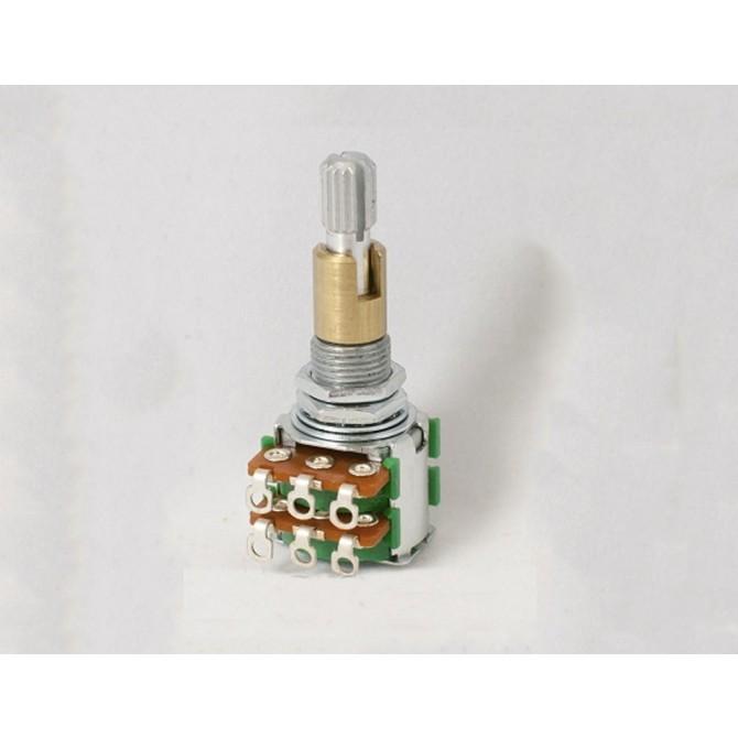 Noble 250k Volume/Tone Potentiometer Audio Taper Stack 6/8mm lower Solid Shaft