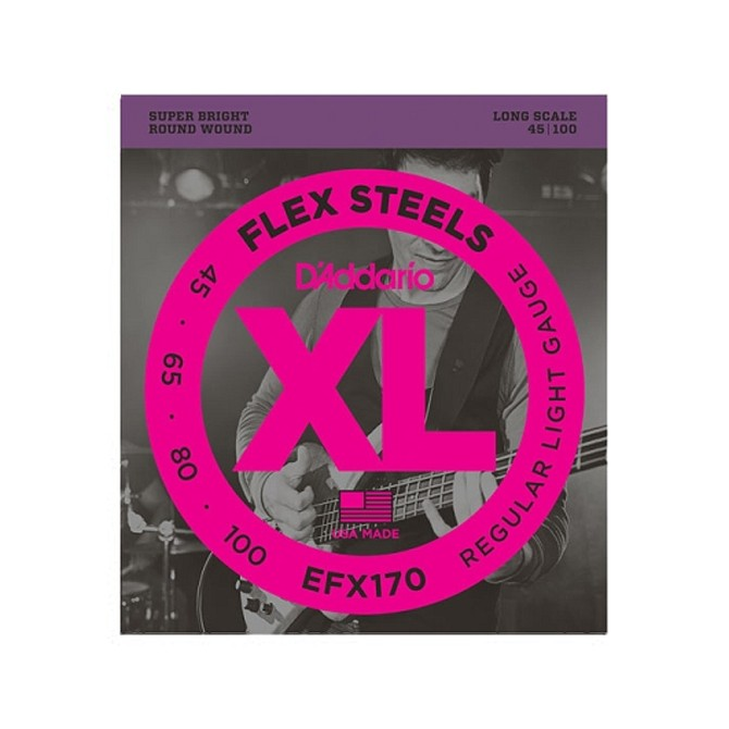 Daddario FlexSteels Series - EFX170 4 String Set (Discontinued by Manufacturer)