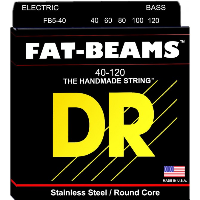 DR Strings 5 String Fat Beams FB5-40 Lite