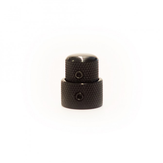 Concentric Stacked Metal Dome Knob - Black DOME