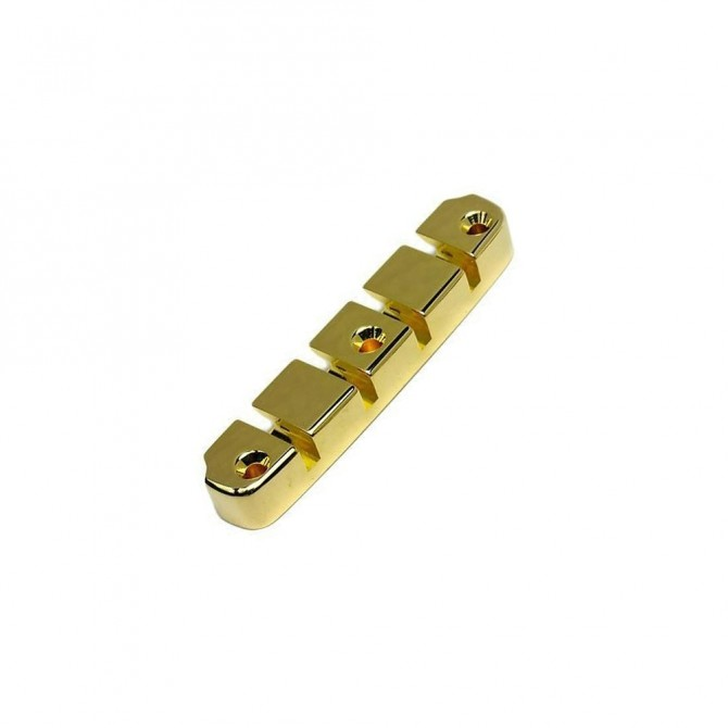 Hipshot DStyle 2Piece 6String Tailpiece Only .656 Bass Bridge Gold 16.5mm Spacing