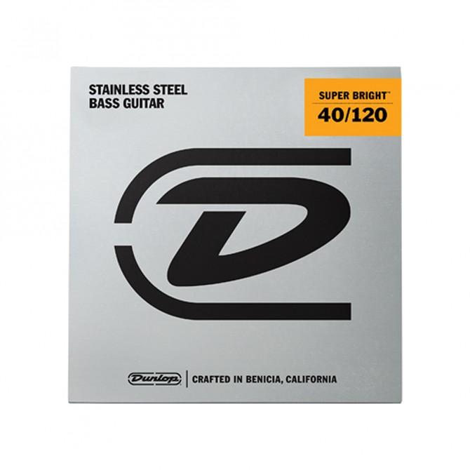 Dunlop Super Bright Stainless Steel 5 String Light (40 - 60 - 80 -  100 - 120) Set
