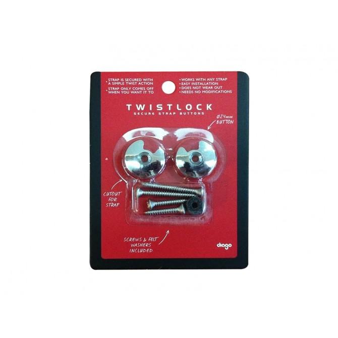 Diago Twistlock Secure Strap Button Chrome