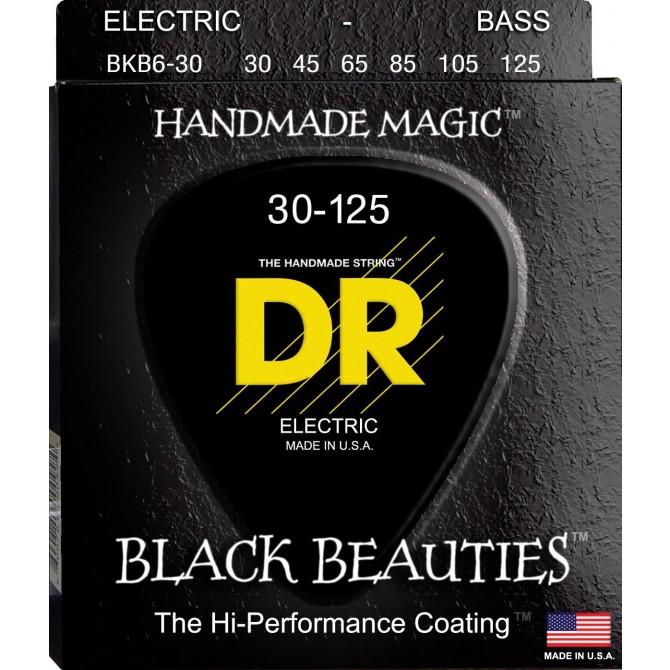 DR BKB6-30 Black Beauties 6 String Medium (30 - 45 - 65 - 85 - 105 - 125) Long Scale