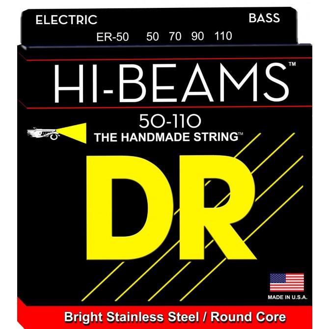 DR Strings ER-50, 4 String, Hi-Beam, Heavy (50, 70, 90, 110)