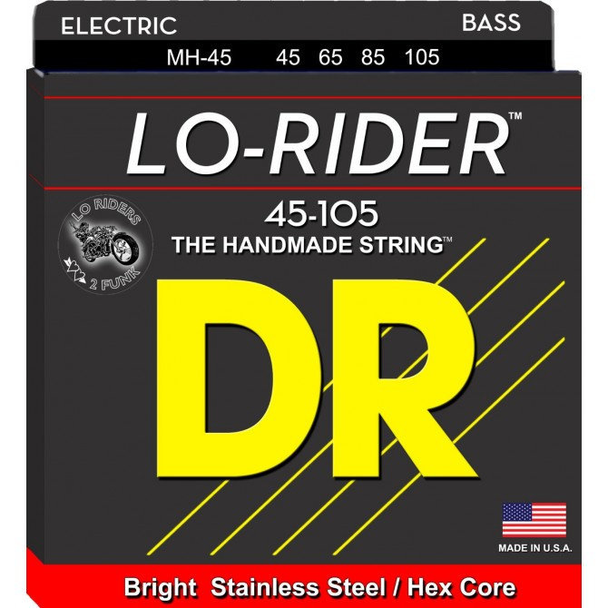 DR MH-45 Lo Rider 4 String Medium (45 - 65 - 85 - 105) Long Scale [SEE BBG 7424]