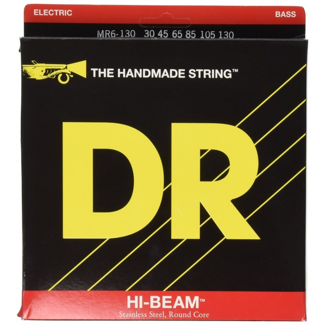 DR MR6-130 Hi Beam 6 String Medium  (30 - 45 - 85 - 105 - 130) Long Scale