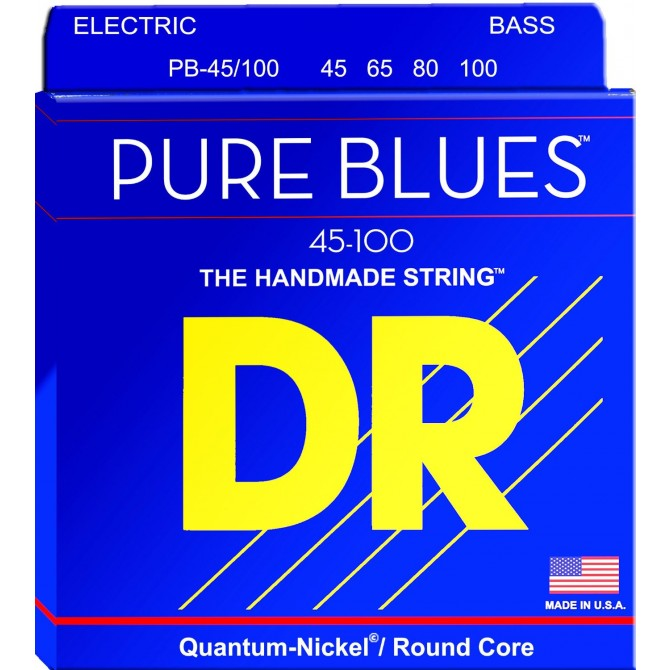 DR PB-45/100 Pure Blues 4 String Medium Light (45 - 65 - 80 - 100) Long Scale