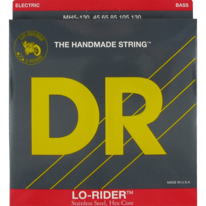 DR MH5-130 Lo Rider 5 String Medium (45 - 65 - 85 - 105 - 130) Long Scale