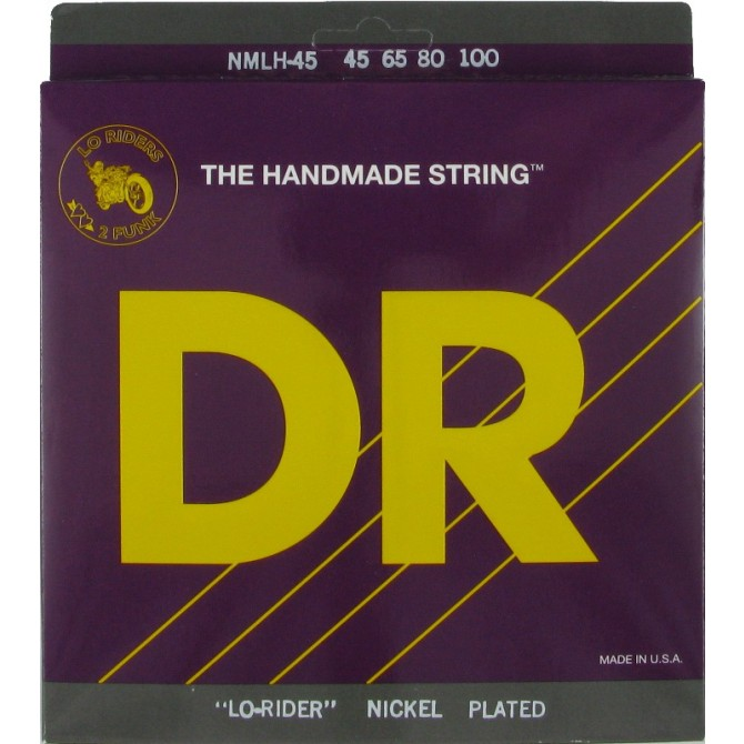 DR NMLH-45 Nickel Lo Rider 4 String Medium Light (45 - 65 - 80 - 100) Long Scale